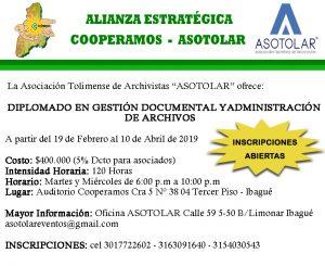 INSCRIPCIONES ABIERTAS DIPLOMADO EN GESTIÓN DOCUMENTAL Y ADMINISTRACIÓN DE ARCHIVOS